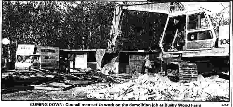 Demolition of Bushywood horse sanctuary, Sussex Express