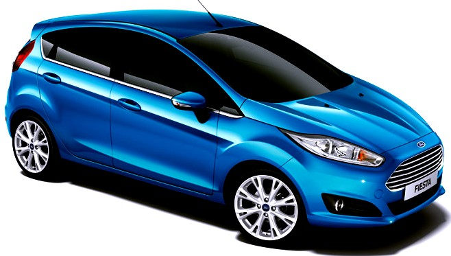 Ford Fiesta, candy blue