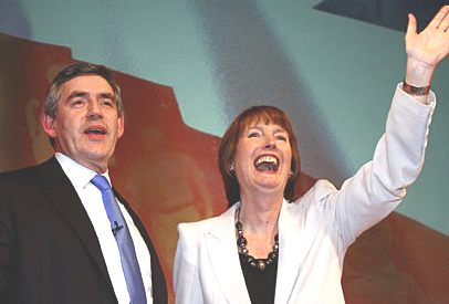 Gordon Brown prime minister and deputy Harriet Harman
